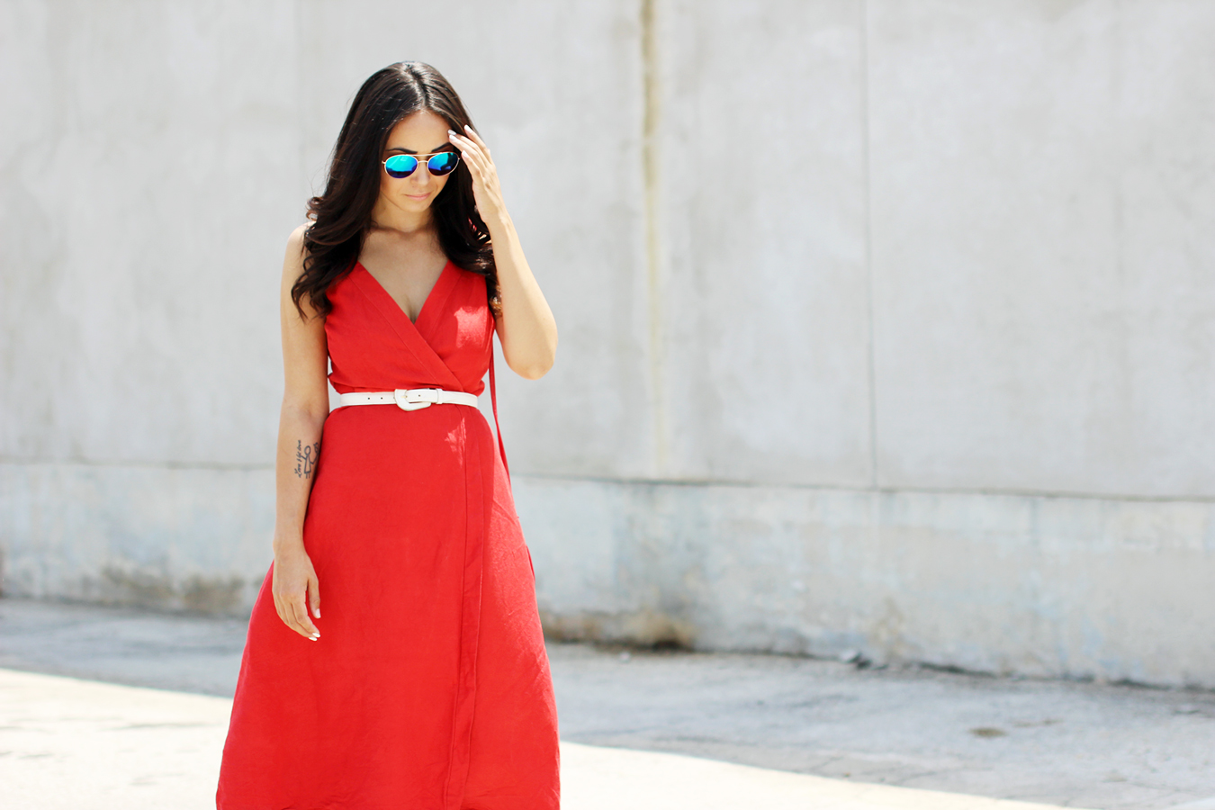 FTT-RED-WRAP-MIDI-DRESS-SUMMER-STYLE-9