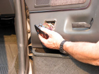 To access electronic switches or an audio speaker, you may need to remove part or all of a car door panel.