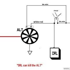 Wiring Diagram For Alternator To Battery 2003 Dodge Ram Trailer Charging System Diagnoses If The Regulator Shuts Down There Is No Current Flowing Charge And Finding A Voltage Drop In Impossible