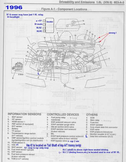 small resolution of 1996 relay and sensor locater maps errors revised mostly correct to 1998 schematics