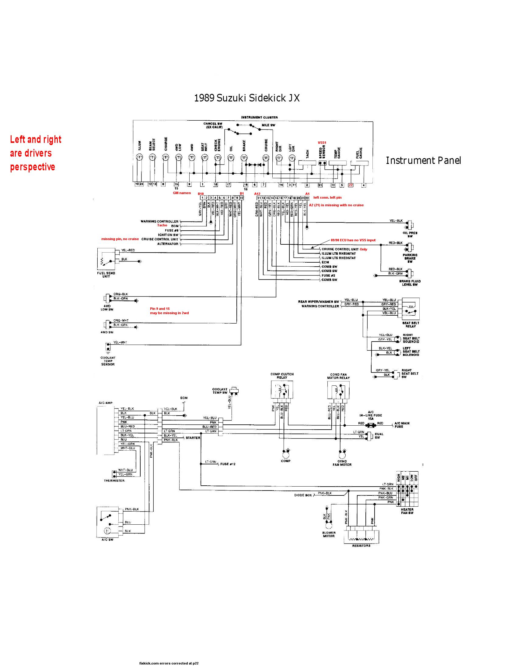 Suzuki Sidekick Wiring Diagram : Suzuki rv wiring diagram honda ft