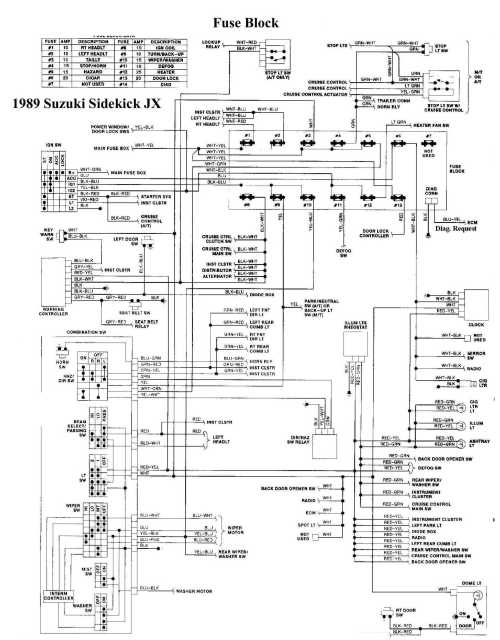 small resolution of 1999 chevy tracker wiring diagram