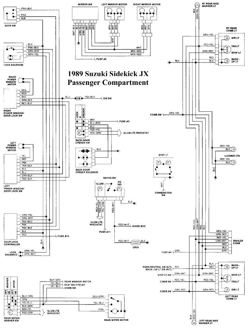 medium resolution of 89 suzuki sidekick wiring diagram wiring library