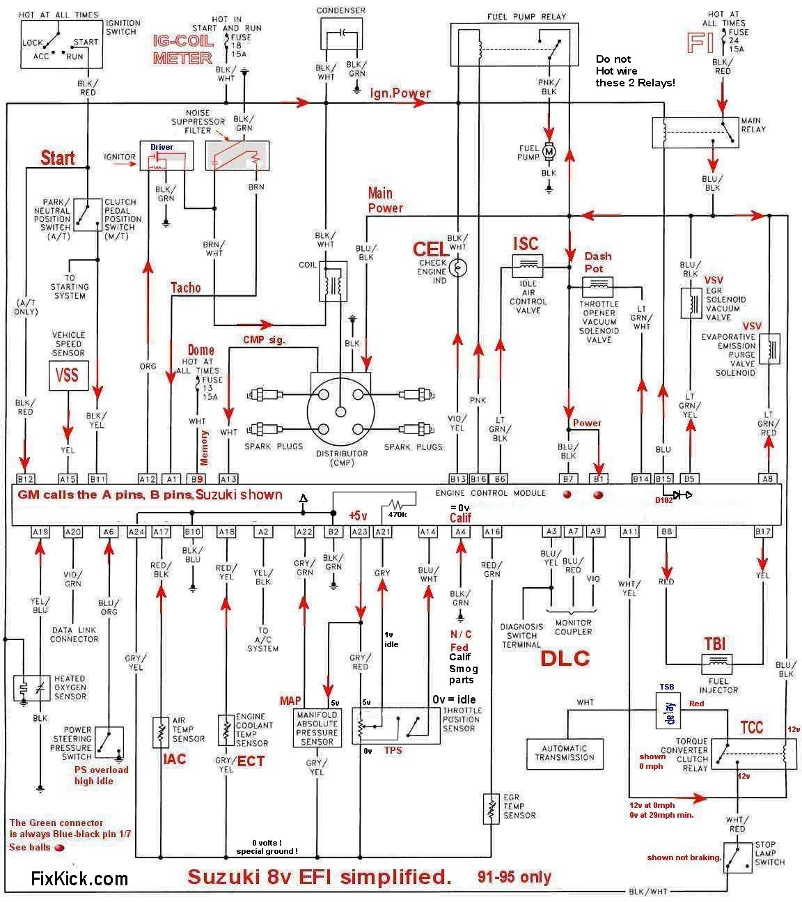 1995 geo tracker 16v fuel pump wiring diagram