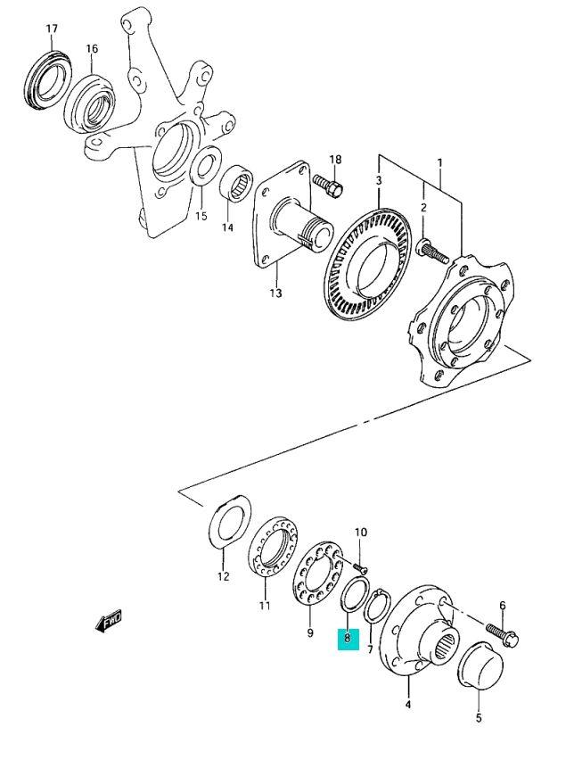 Service manual [2005 Suzuki Xl 7 Drive Shaft Removal