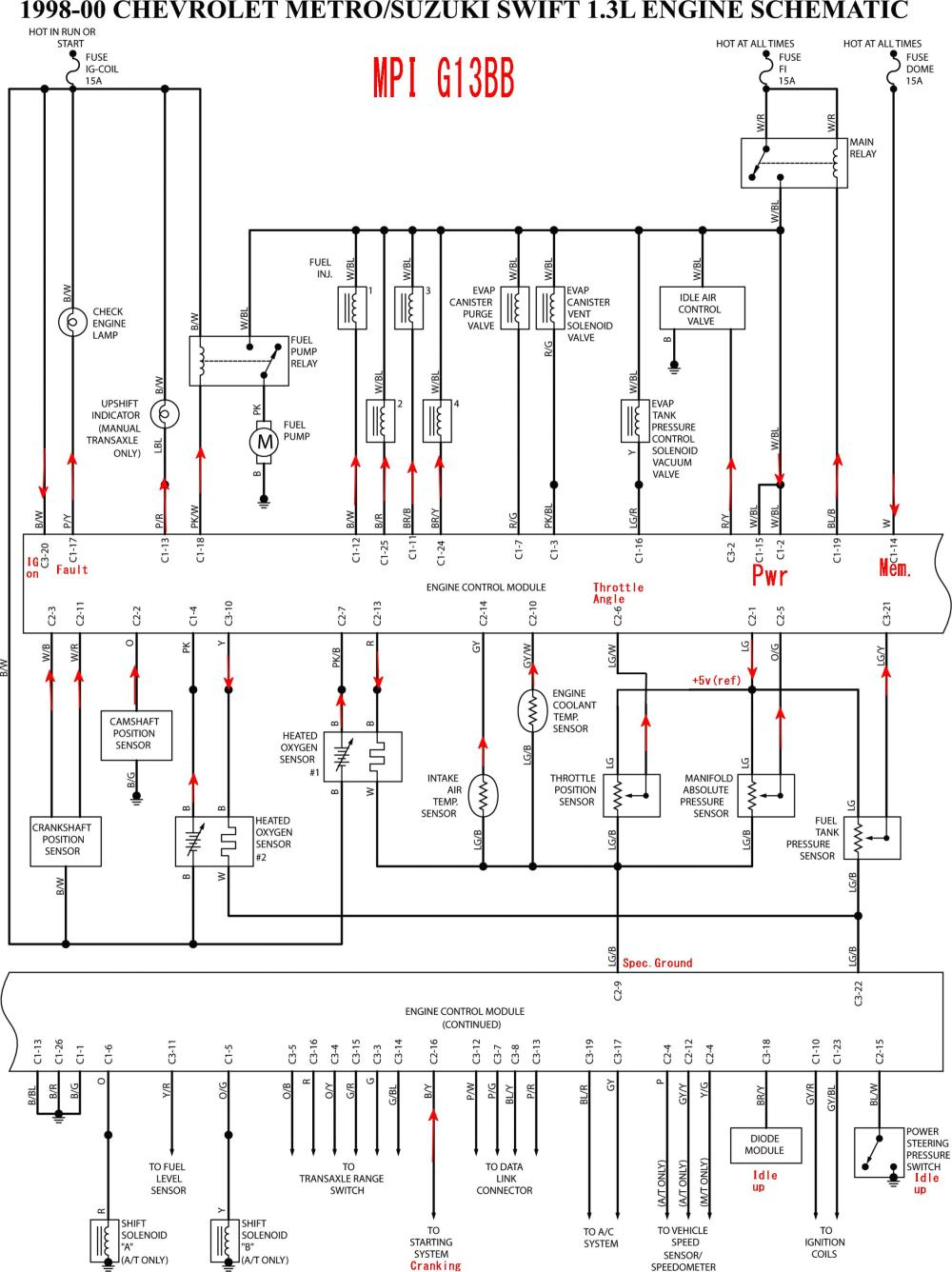 medium resolution of 1997 geo metro stereo wiring diagram