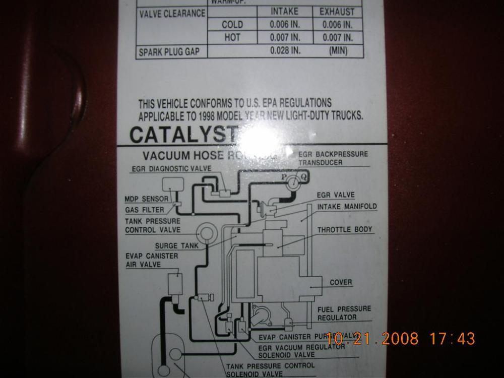 medium resolution of  the vacuum tubes in the engine bay more p0400 dct 51 cry wolf issues
