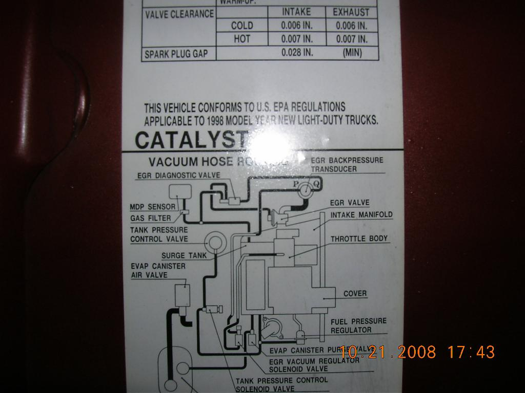 hight resolution of  the vacuum tubes in the engine bay more p0400 dct 51 cry wolf issues