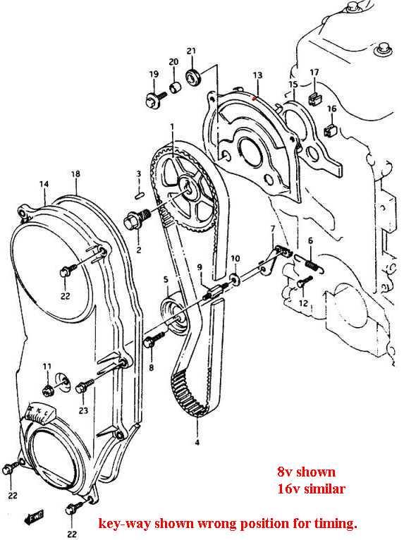 16 valve 1.6 Liter, Sidekick Timing belt swap ~ VES