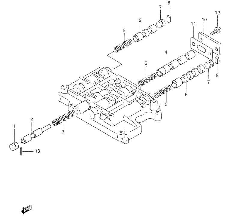 Suzuki Sidekick 4 speed transmission 03-72LE (A44de