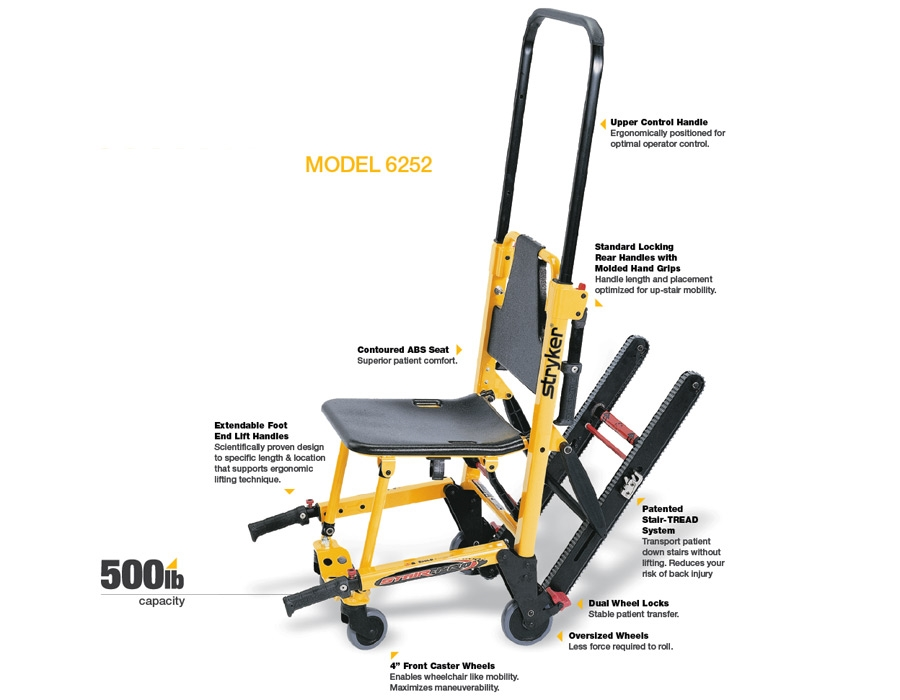 Stryker Stair Chair Model 6252