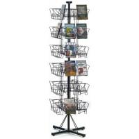 48 Pocket DVD Floor Wire Rack Display Spinner