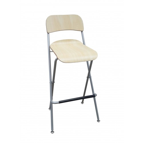 Fixture Displays Chair, Folding Bistro Bar Stool Wood