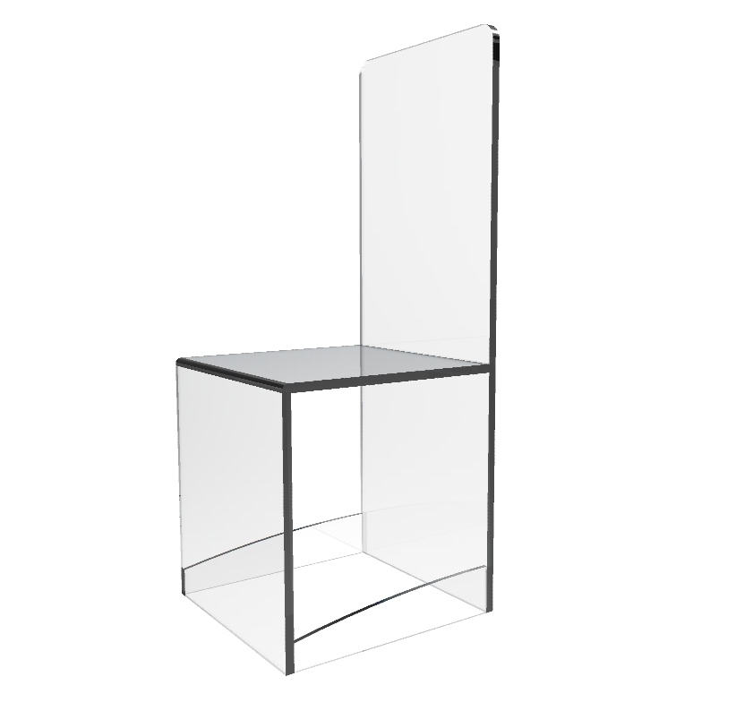 Clear Acrylic ChairLucitePlexiglass Chair Ghost Chair