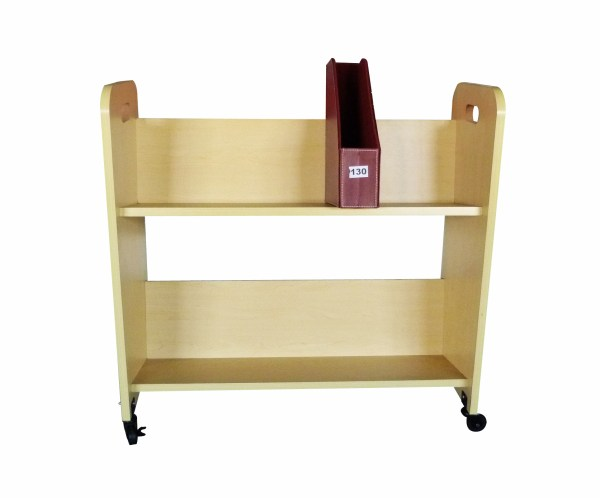 Wood Book Cart Library Cart Pew Cart Magazine Rack Moving