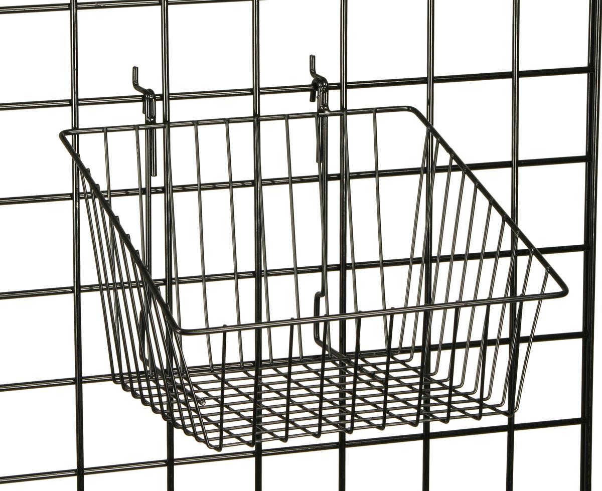 Fixturedisplays 12 X 12 Metal Gridwall Slatwall Basket W