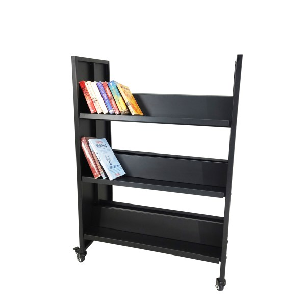 Doublesided Metal Book Cart Library Cart Mobile Book