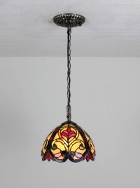 Tiffany Hanging Bar Light Stained Glass Island Lamp