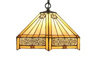 Tiffany Hanging Bar Light Stained Glass Island Lamp ...