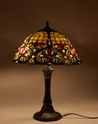 Tiffany Table Lamp Stained Glass Nightstand Light Tiffany ...