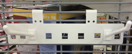 Corrugated Hook on Plastic Carrier
