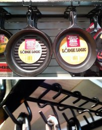 Lodge Cast Iron Cookware Hangs from Metro