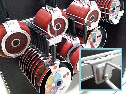 flat back crossbar psuedo-slatwall scan hook
