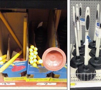 Toilet Plunger Displays