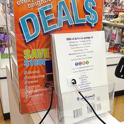 Coupon Book Security Lanyard