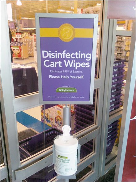 Retail Wipe as Creature Comfort