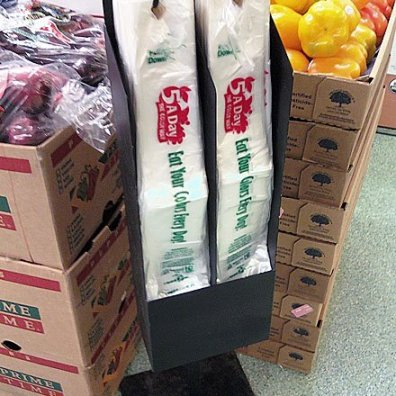 Floor-standing Double Produce Bag Holder