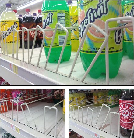Pallet Rack Beverage Dividers