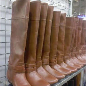 Boots Hanging Or Standing