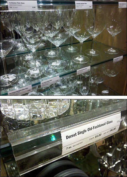 Clear Label Strip for Crystal