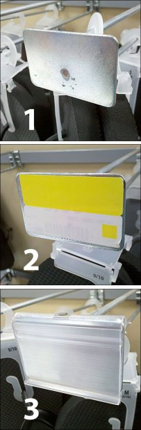 Metal Plate Label Holders Numbered
