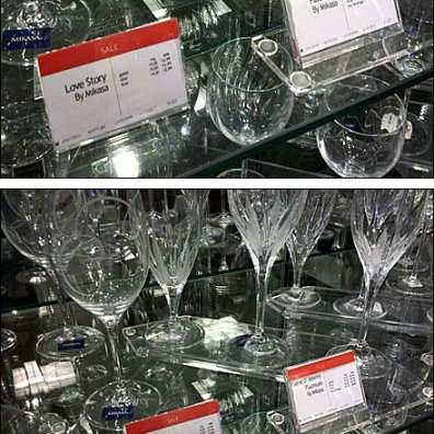 Crystal Glassware Label Holders