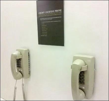 Credit Hotline In-Store Amenity