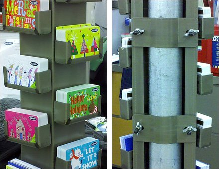 Conduit Cover Creates Gift Card Display