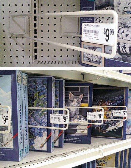 Pegboard-mount Angled Shelf Dividers