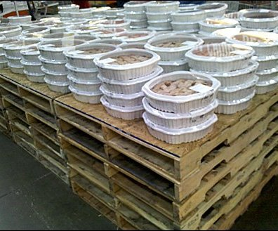 Pallets Merchandising Pies
