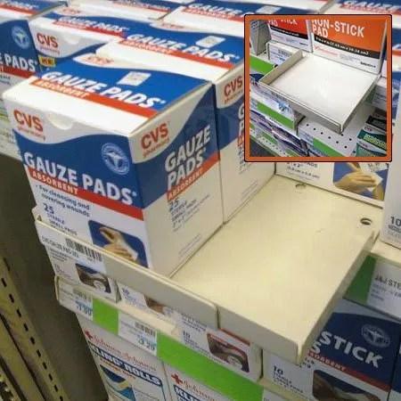 Multi-Item Shelf Extender Width Adjusts