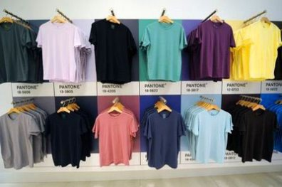 Men's Wall of Pantone Color T-Shirts