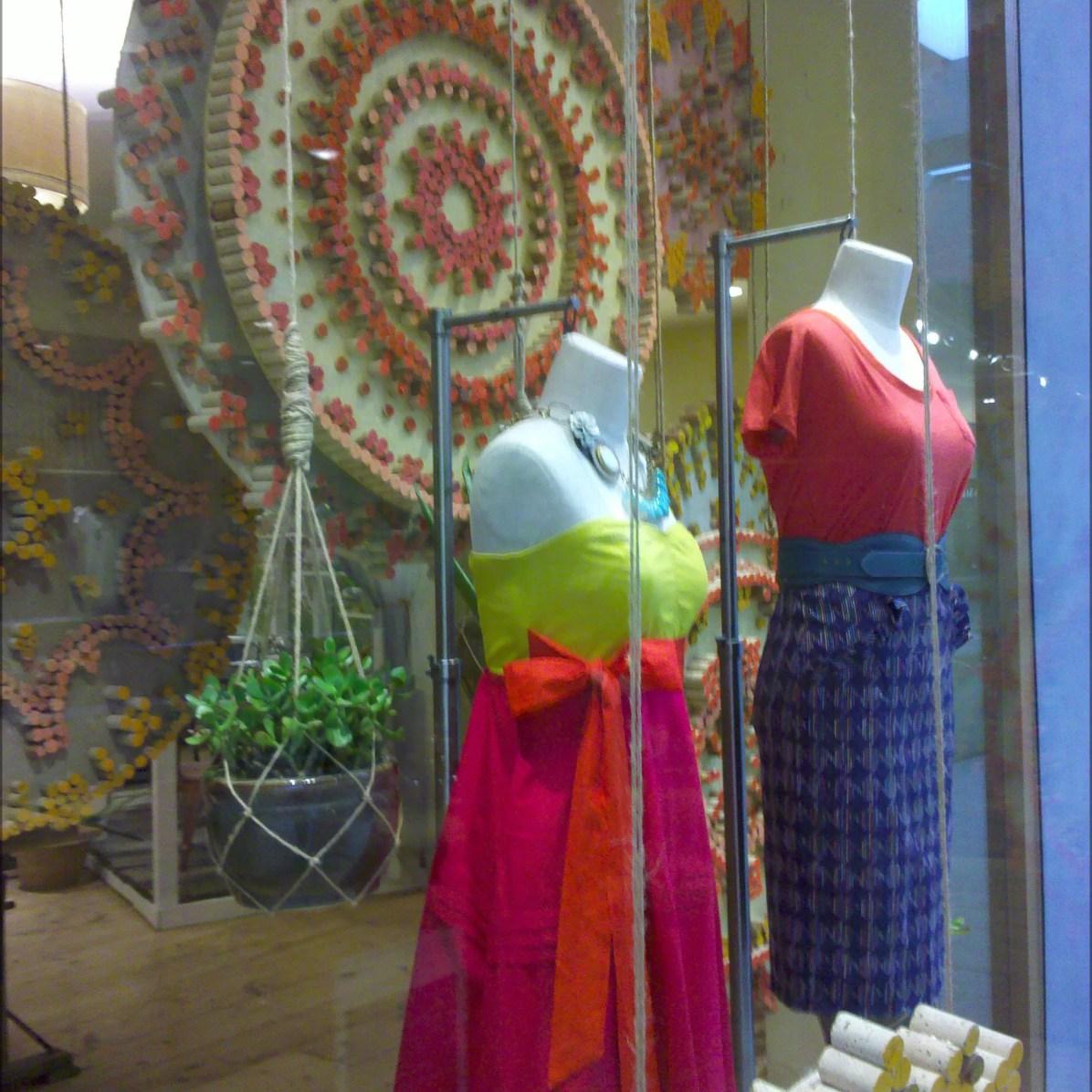 Cork Board Earth Day Window Dressing