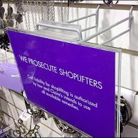 We Prosecute Shoplifters Sign
