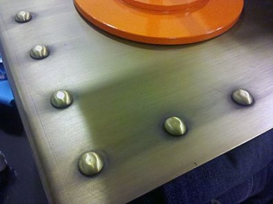 Rivets Details as Retail Merchandising Store Fixture