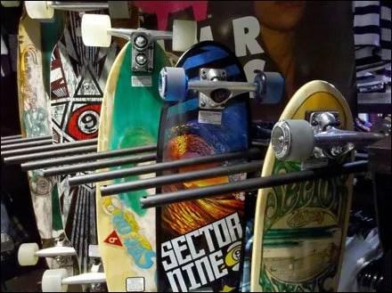 Merchandising Skateboards on End
