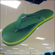 Giant Flying Flip Flop Visual Merchandising