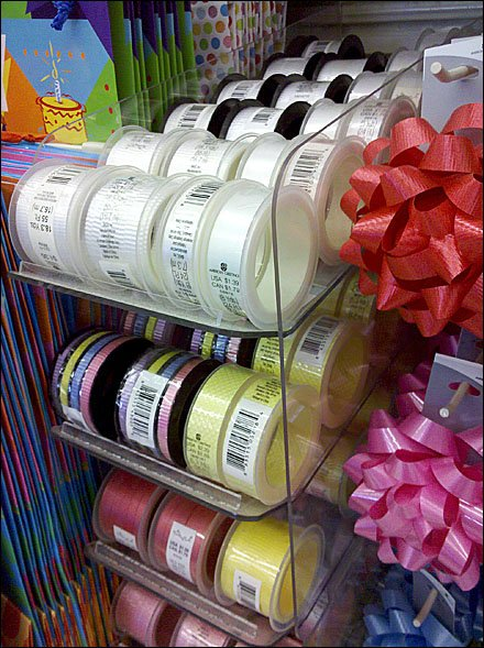 Gravity Feed Gift Ribbon