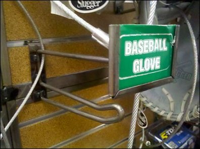 Baseball Glove Scan Hook