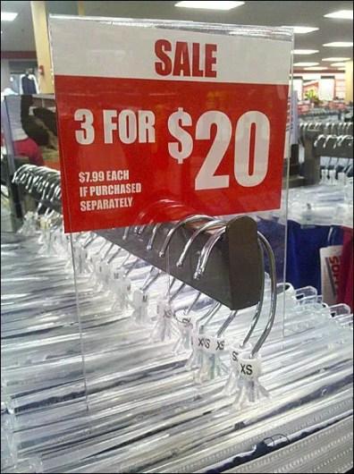 Faceout Arm Sale Sign